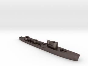 Italian Procione WW2 torpedo boat 1:3000 in Polished Bronzed-Silver Steel