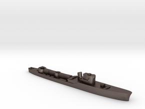 Italian Orione WW2 torpedo boat 1:3000 in Polished Bronzed-Silver Steel