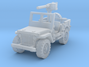Jeep Willys 50 cal (window up) 1/285 in Smooth Fine Detail Plastic