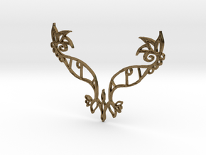 :Eyespell: Pendant in Natural Bronze