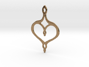 :Perfect Valentine: Pendant in Natural Brass