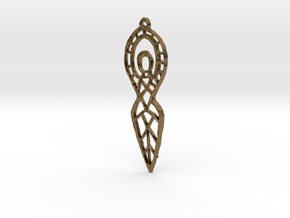 :Goddess Sketch: Pendant in Natural Bronze