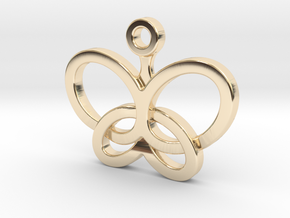 Custom Logo Charm in 14k Gold Plated Brass