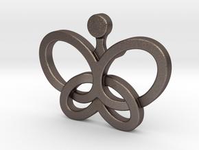 Custom Logo Lapel Pin in Polished Bronzed-Silver Steel