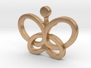 Custom Logo Lapel Pin in Natural Bronze