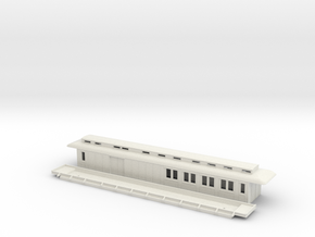 CFo1 model 00 - Swedish passenger wagon in White Natural Versatile Plastic