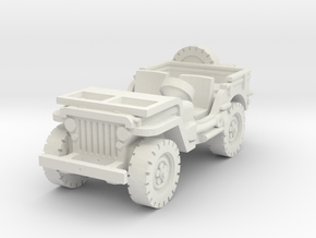 Jeep willys (window down) 1/100 in White Natural Versatile Plastic