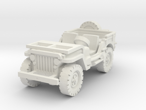 Jeep willys (window down) 1/87 in White Natural Versatile Plastic