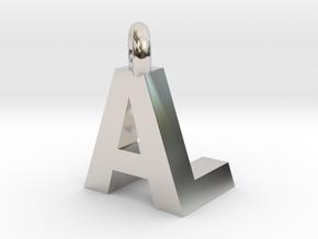 AL  pendant top in Platinum