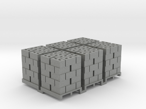 Pallet Of Cinder Blocks 5 High 6 Pack 1-87 HO Scal in Gray PA12
