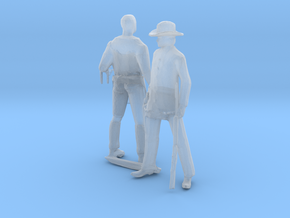HO Scale Old West Figures in Smooth Fine Detail Plastic