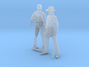 O Scale Old West Figures in Smooth Fine Detail Plastic