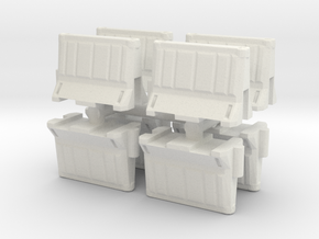 Interlocking traffic barrier (x8) 1/72 in White Natural Versatile Plastic
