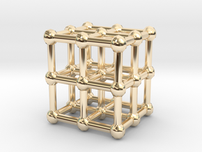 cube matrix in 14K Yellow Gold