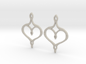 :Perfect Valentine: Earrings in Natural Sandstone