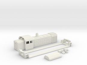 Locomotive TGM 3 N SCALE 2018 in White Natural Versatile Plastic