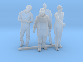 S Scale Standing Men 2 in Smooth Fine Detail Plastic