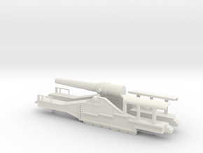 french 320mm railway artillery alvf 1/76 oo body  in White Natural Versatile Plastic