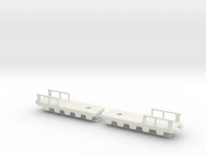 french 320mm railway artillery alvf 1/76 oo bogie  in White Natural Versatile Plastic