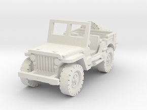 Jeep Willys (window up) 1/56 in White Natural Versatile Plastic