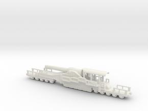 french 320mm railway artillery alvf 1/285 6mm in White Natural Versatile Plastic