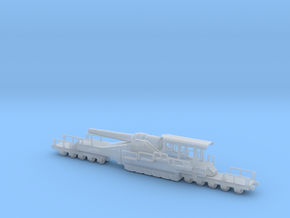 french 320mm railway artillery alvf 1/100 in Smooth Fine Detail Plastic