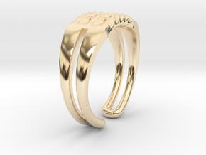 Twisted ring in 14K Yellow Gold
