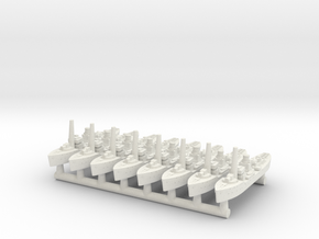 Flower Class Corvettes (Qty 8) in White Natural Versatile Plastic
