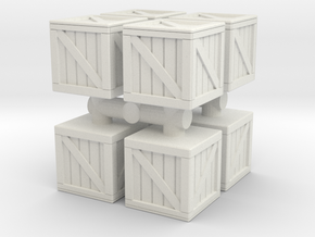 Wood crate prop (x8) 1/144 in White Natural Versatile Plastic