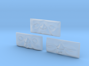 Toad Faces 1-3# [H0/00] in Smooth Fine Detail Plastic