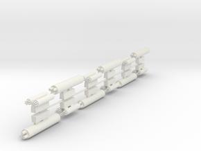 MissilePods in White Natural Versatile Plastic