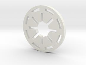 Galactic Republic Symbol Blade Plug Insert in White Natural Versatile Plastic