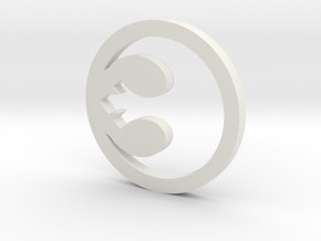 Rebel Symbol Blade Plug Insert in White Natural Versatile Plastic
