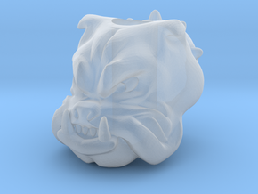 Bulldog - Paracord Bead resized to 6mm in Smooth Fine Detail Plastic