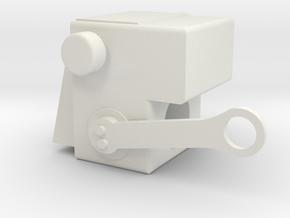 Rotation Support Bracket in White Natural Versatile Plastic