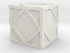 Jedi Holocron Mini in White Natural Versatile Plastic