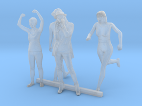 HO Scale Standing Women 2 in Smooth Fine Detail Plastic