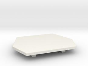 Han Style Belt Buckle in White Natural Versatile Plastic
