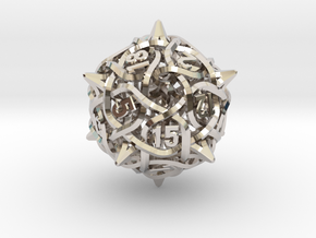 Thorn d20 V2 Mini in Rhodium Plated Brass