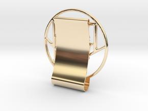 RCS_MoneyClip in 14K Yellow Gold