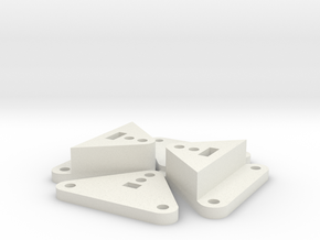 Barrage RC4WD R5 V2 Trans mount in White Natural Versatile Plastic