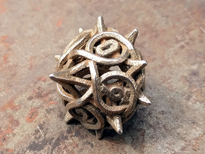 Thorn d10 V2 in Polished Bronzed-Silver Steel