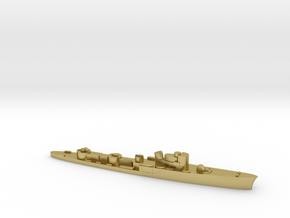 Italian Ciclone WW2 torpedo boat 1:1800 in Natural Brass