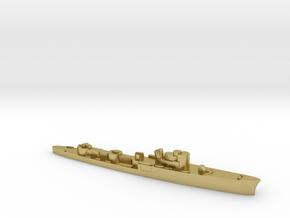 Italian Ciclone WW2 torpedo boat 1:3000 in Natural Brass