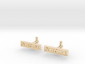 Detective Cufflinks (Style 2) Silver/Brass/Bronze in 14K Yellow Gold