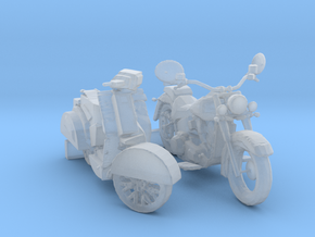 HO Scale Motorcycle & Scooter in Smooth Fine Detail Plastic