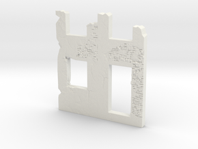 Building wall ruins 1/100 in White Natural Versatile Plastic