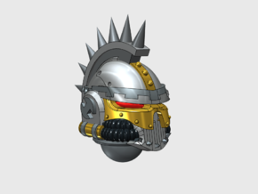 6x Iron Skull Helmet: Spiked Crest in Smooth Fine Detail Plastic