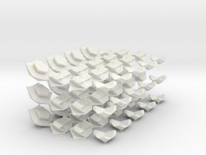 Icosahedron Megaminx modified from Megaminx in White Natural Versatile Plastic