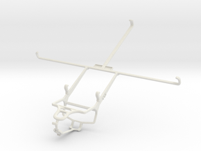 Controller mount for PS4 & Samsung Galaxy Tab 2 10 in White Natural Versatile Plastic